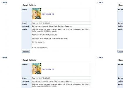 Anna Nicole Myspace Suicide (wait)