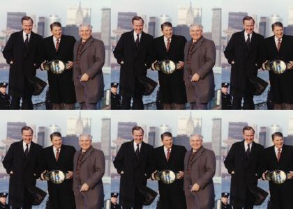 World Wrestling Federation Champion Ronald Reagan