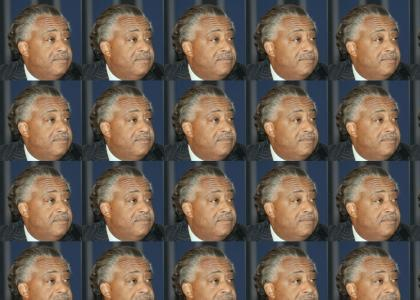 Al Sharpton doesn't change facial expressions