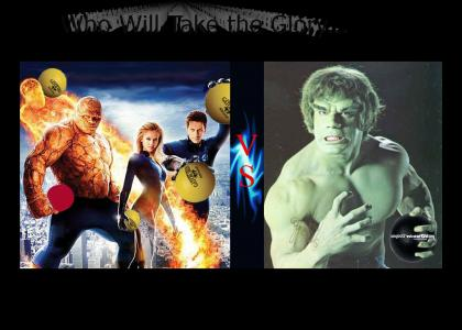 Hulk VS. Fantastic Four Battle!