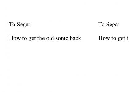 Dear, SEGA RE: Sonic (Refresh)