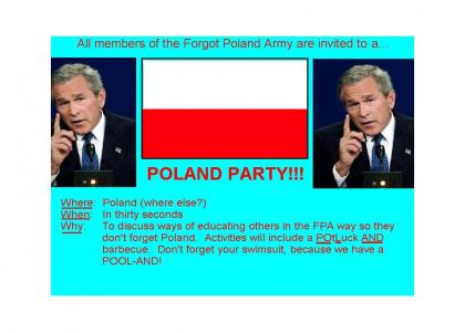 There's gonna be a POLAND party so don't FORGET and VOTE 5 BEFORE YOU GET HERE!!!!VOTINGNOWWITHTHENUMBERFIVE!