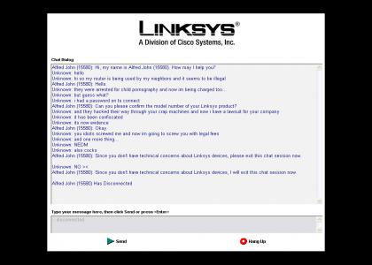 Another Linksys prank -_-