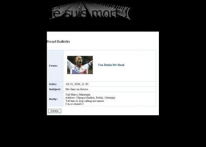Zidane's Myspace Suicide