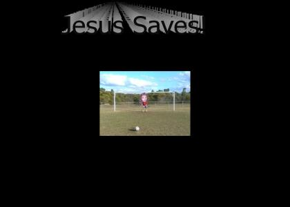 NEDM shoots, and...well, as you say...Jesus saves!