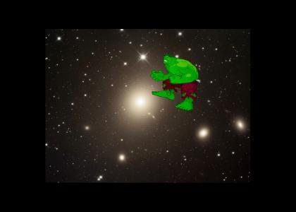 Hulk Floats Through Space