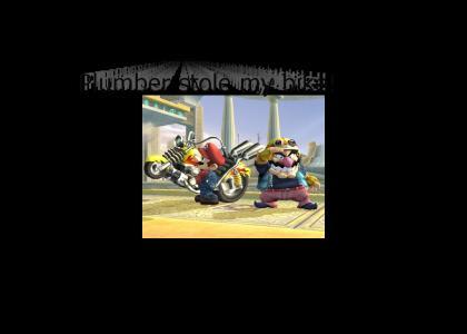 Plumber stole my bike!