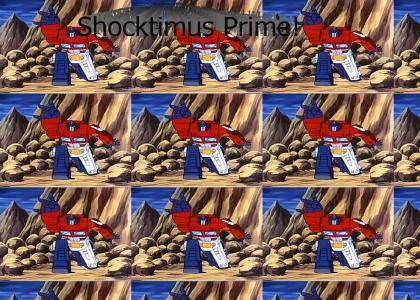Optimus Prime Throws Up The Shocker