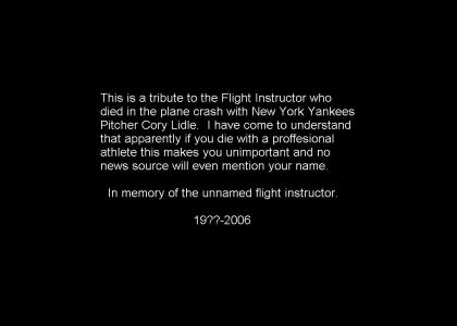 In Memory of the Flight Instructor
