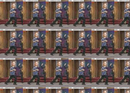 Mullet Man's raptor dance!
