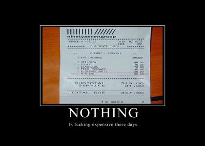 Nothing Is Expensive