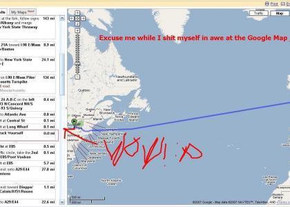Google Map Asks to Swim? NO WAI!