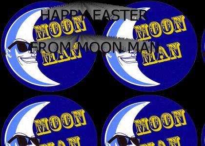 Moon Man Attends an Egg Hunt