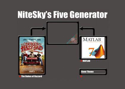 Nitesky's Five Generator