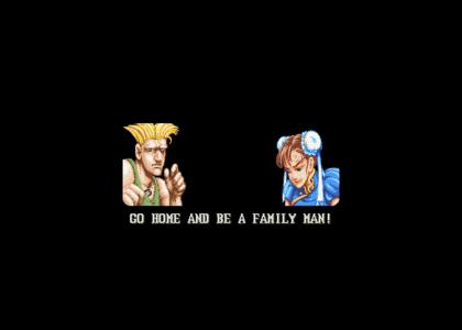 Guile gives Chun-Li Advice