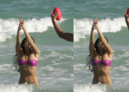 Jessica Alba, Football, Bikini