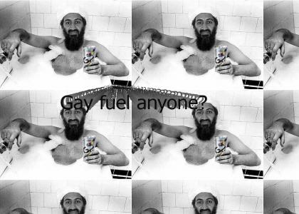 Osama supports gay fuel