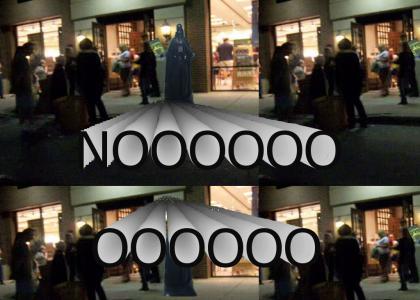 Vader at Potter spoiler bookstore crash