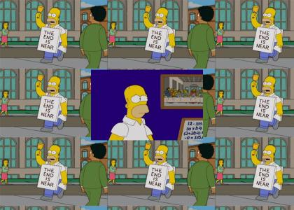 Homer Simpson is Harold Camping