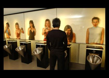 Girls watch you pee