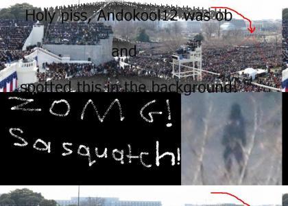 Sasquatch at inauguration