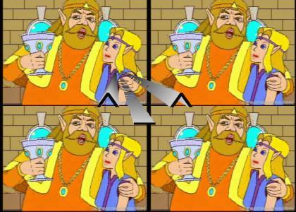 Zelda and King Happy Fun!