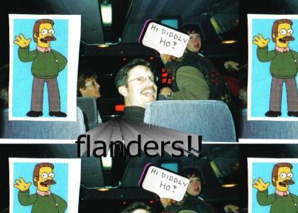 I met Flanders on a Bus!