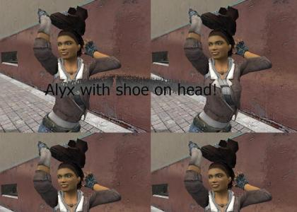 Alyx puts shoe on head too