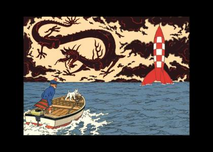 Tintin takes an acid trip