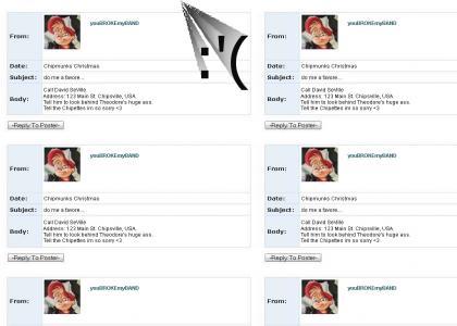 Alvin the chipmunk MySpace SUICIDE!!!