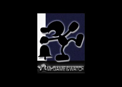 Mr. Game & Watch is in Brawl!