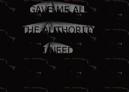 YOU DON'T HAVE THE AUTHORITY