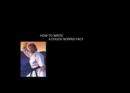 How to Write a Chuck Norris Fact