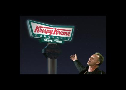 Sting LOVES Krispy Kreme