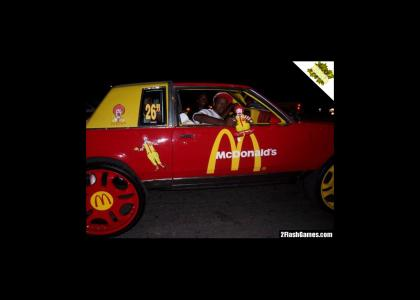 NIGGA stole mcdonald mobile and is riddin dirty