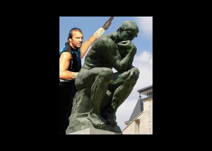 Kevin Costner hits statues