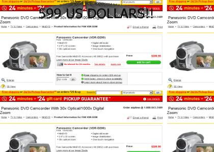 Camcorder retails for.......