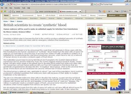 Good news for vampires!