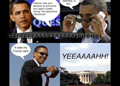 Obama does his best David Caruso