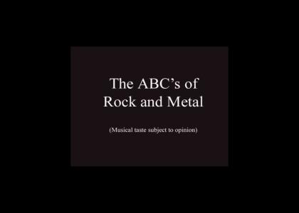 The ABC's of Rock and Metal (Now in flash!)