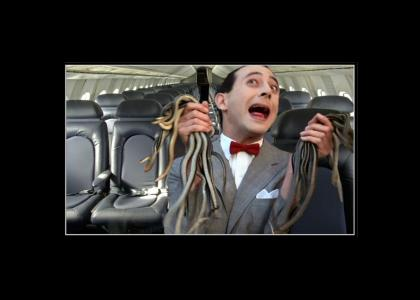 Pee Wee with snakes on a plane