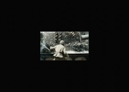 Epic WW2 Tank busting maneuver