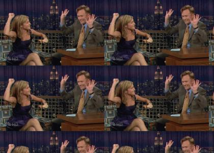 Hermione and Conan raise the roof!