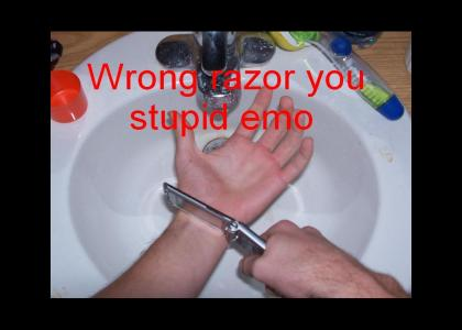 Wrong razer stupid emo!
