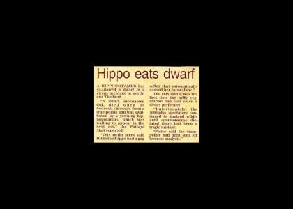Hippo eats...A DWARF!