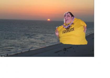 Fat Party Girl enjoys Florida Sun set