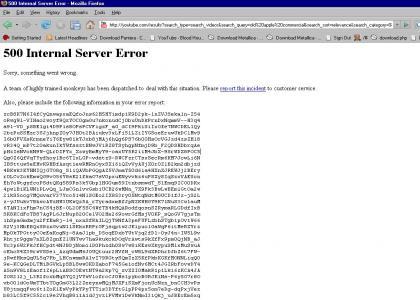 Awkward 500 Internal Server Error
