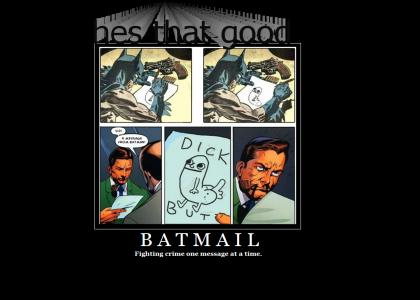 Batman ends crime by mail!
