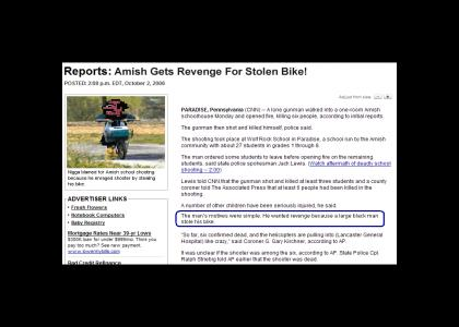 Nigga Stole Amish Bike!!