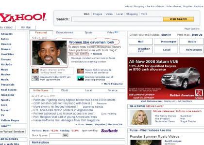 Yahoo! is racist against black cavemen